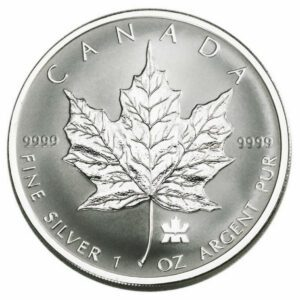 2004 Canada 5-Coin 1.9 oz Sølv Maple Leaf Privy Set Reverse Proof