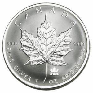 2004 Canada 5-Coin 1.9 oz Sølv Maple Leaf Privy Set Reverse Proof
