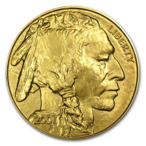 2007 USA 1 oz Gold Buffalo BU