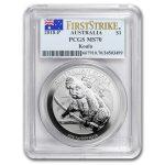 2018 Australia 1 oz Sølv Koala PCGS MS70