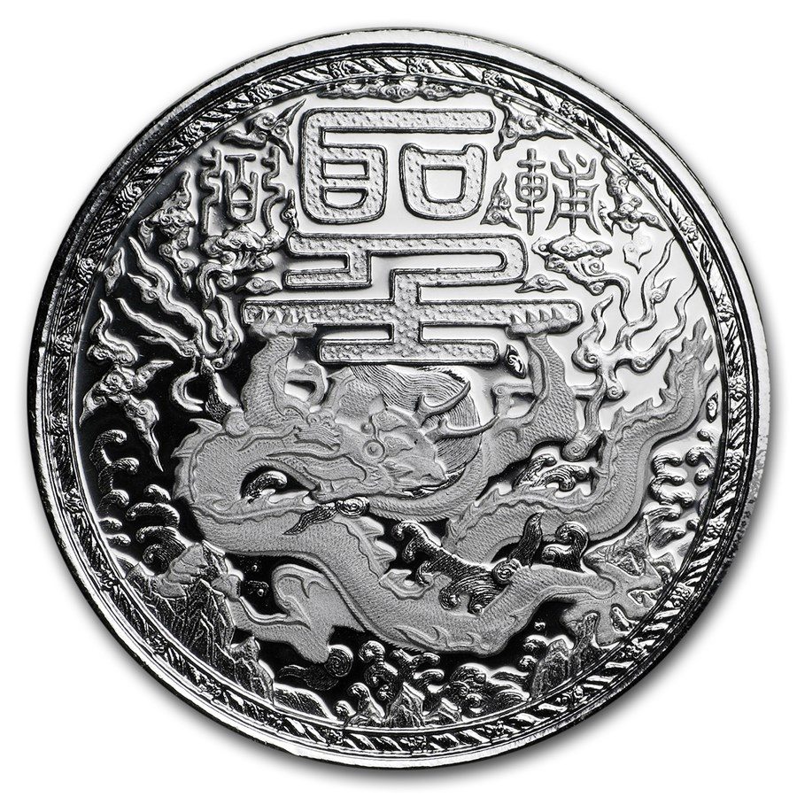 2018 Kamerun 1 oz Sølv Imperial Dragon BU