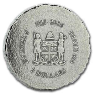 2018 Fiji 5 oz Silver Coin Terracotta Army BU