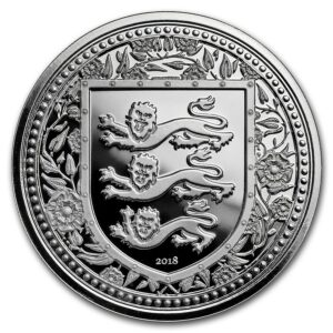 2018 Gibraltar 1 oz Silver Royal Arms of England BU