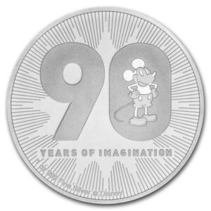 2018 Niue 1 oz Sølv Disney Mickey`s 90th Anniversary BU