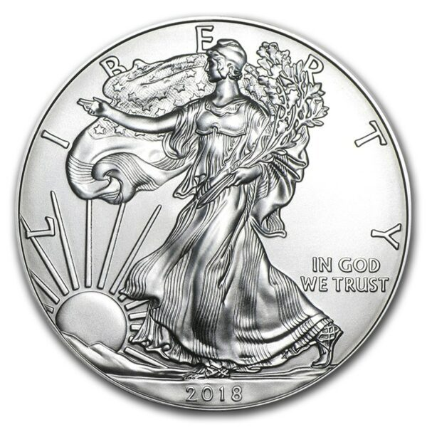 2018 Silver American Eagle 1 oz Sølv PCGS MS70