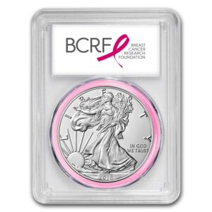 "2018 Silver American Eagle 1 oz Sølv PCGS MS70 ""First Strike"" BCRF"
