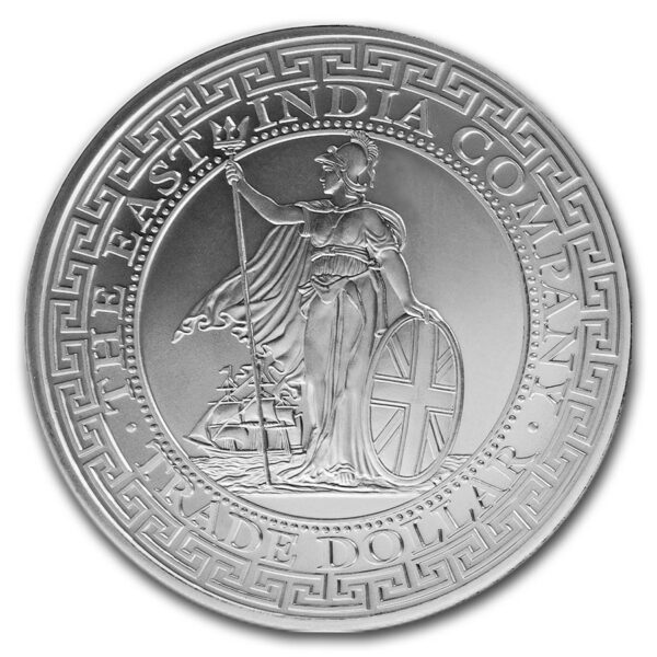 2018 St. Helena 1 oz Sølv British Trade Dollar Restrike BU