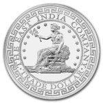 2018 St. Helena 1 oz Sølv Trade Dollar Restrike BU