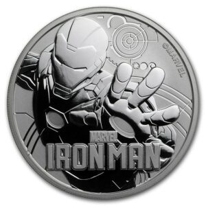 2018 Tuvalu 1 oz Sølv Marvel Series Iron Man™ BU