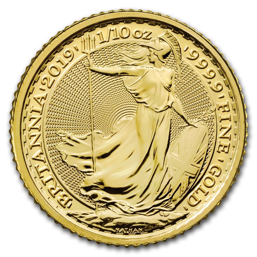 2019 Great Britain 1/10 oz Gold Britannia BU