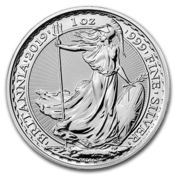 2019 Storbritannia 1 oz Sølv Britannia BU