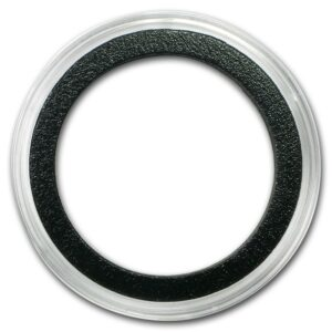 "Air-Tite X6D -39MM Black Ring Myntkapsel ""Til div. 2 oz sølv mynter/rounds"""