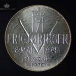 1970 25 Kroner Sølvmynt