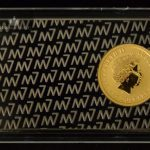 2017 Australia 1/10 oz Gold Kangaroo BU W/Bar