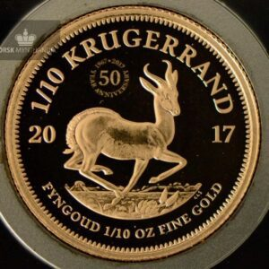 2017 Sør Afrika 1/10 oz Gull Krugerrand Proof M/Barre