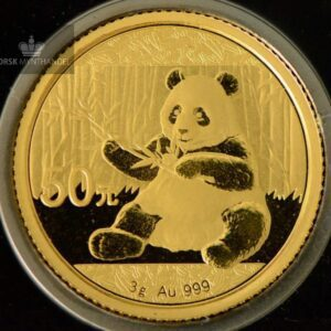 2017 China 3 gram Gold Panda BU W/Bar