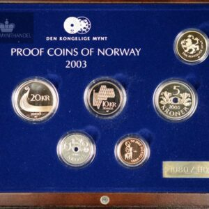 2003 Norway Proofset Exclusive W/Gold Medal