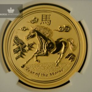 "2014 Australia 2 oz Gull Lunar S2 ""Year of the Horse"" NGC MS69"