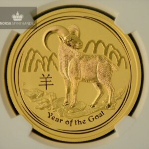 "2015 Australia 2 oz Gull Lunar S2 ""Year of the Goat"" NGC MS69"