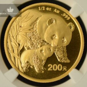 2004 China 1/2 oz Gold Panda NGC MS68