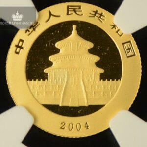 2004 China 1/10 oz Gold Panda NGC MS68