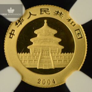2004 China 1/20 oz Gold Panda NGC MS68