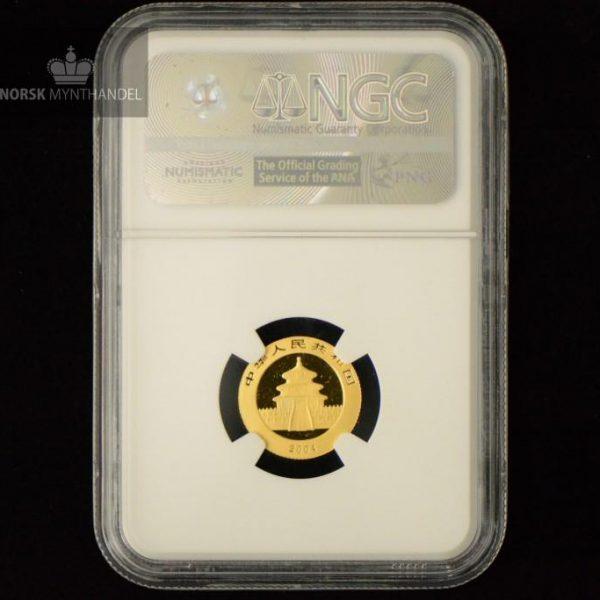 2004 Kina 1/10 oz Gull Panda NGC MS68
