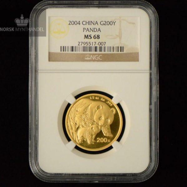 2004 Kina 1/2 oz Gull Panda NGC MS68