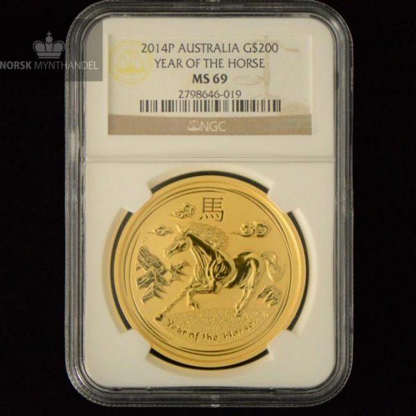 2014 Australia 2 oz Gull Lunar S2
