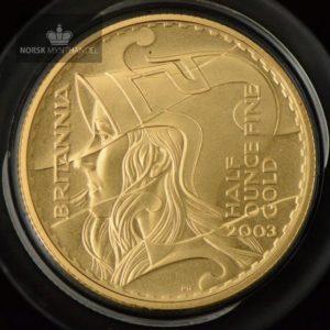 2003 Storbritannia 1/2 oz Gullmynt Britannia Proof M/Kapsel