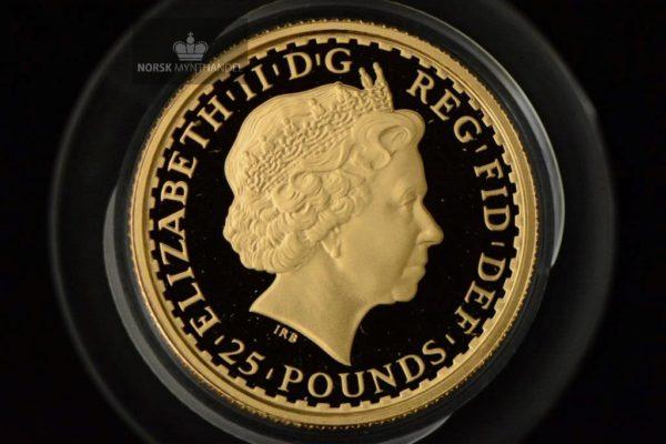 2003 Storbritannia 1/4 oz Gullmynt Britannia Proof M/Kapsel