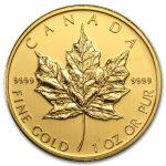 2009 Kanada 1 oz Gold Maple Leaf BU ANM M/Kapsel