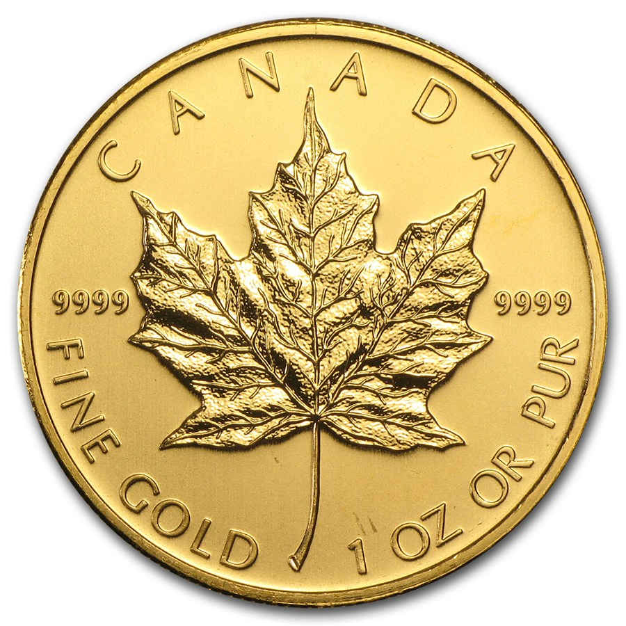 2009 Kanada 1 oz Gold Maple Leaf BU ANM M/Kapsel