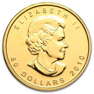 2010 Kanada 1 oz Gold Maple Leaf BU ANM M/Kapsel