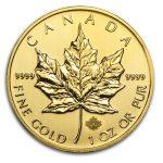 2014 Kanada 1 oz Gold Maple Leaf BU ANM M/Kapsel