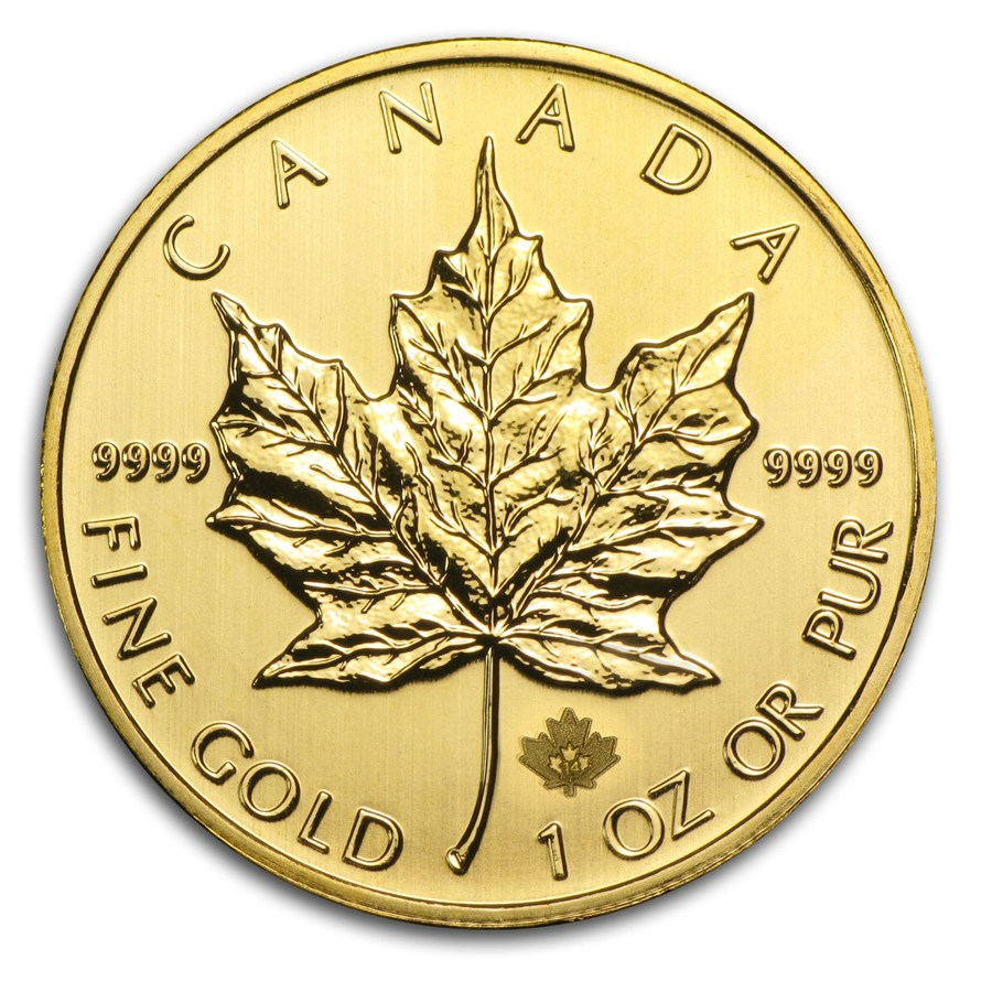 2014 Kanada 1 oz Gold Maple Leaf BU ANM M/Kapsel
