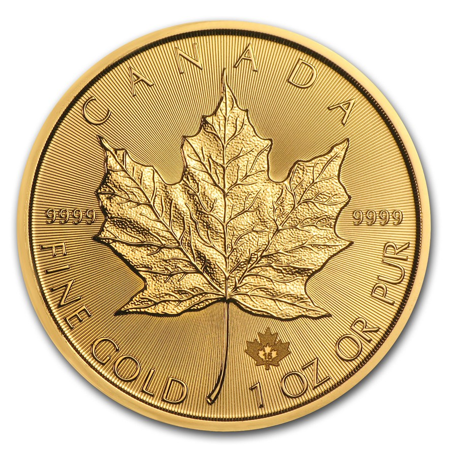 2015 Kanada 1 oz Gold Maple Leaf BU ANM