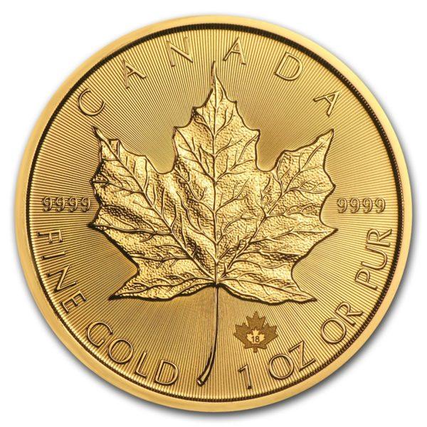 2018 Kanada 1 oz Gold Maple Leaf BU