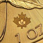 2018 Kanada 1 oz Gold Maple Leaf BU ANM M/Kapsel