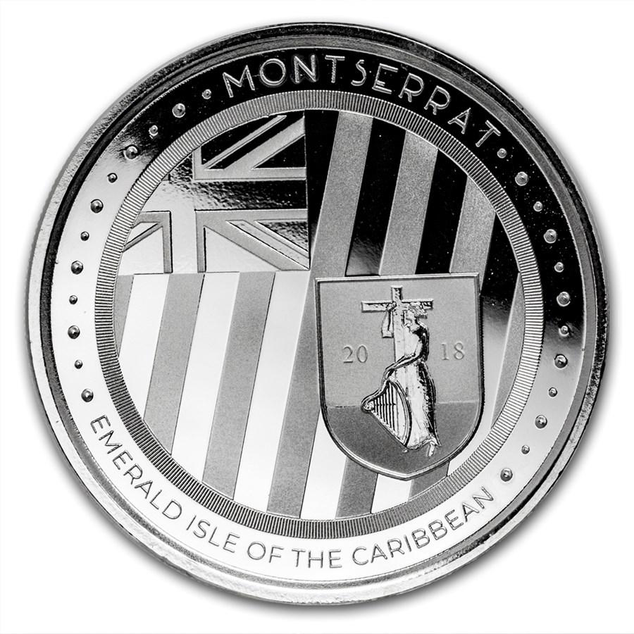 2018 Montserrat 1 oz Sølv Emerald Isle of the Caribbean EC8 BU