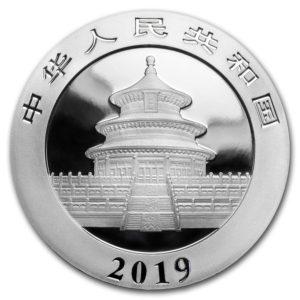 2019 Kina 30 Gram Sølv Panda BU
