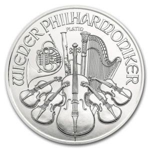 2017 Østerrike 1 oz Platinum Philharmoniker BU