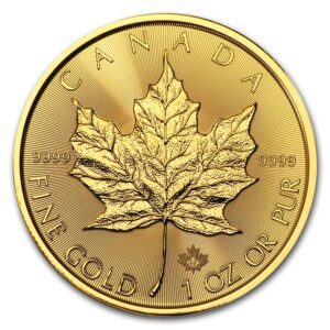 2017 Kanada 1 oz Gold Maple Leaf BU