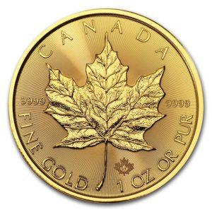 2017 Kanada 1 oz Gold Maple Leaf BU