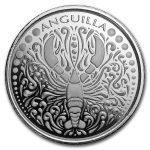 2018 Anguilla 1 oz Sølvmynt Lobster EC8 BU