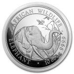2018 Somalia 10 oz Sølv African Elephant BU