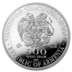 2019 Armenia 1 oz Sølv Noah`s Ark BU