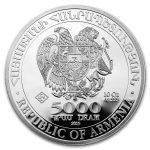 2019 Armenia 10 oz Sølv Noah`s Ark BU M/Kapsel