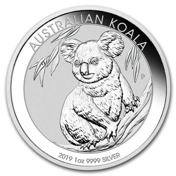 2019 Australia 1 oz Sølv Koala BU