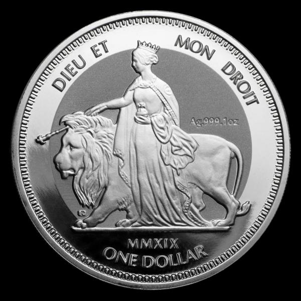 2019 De Britiske Jomfruøyer 1 oz Sølv